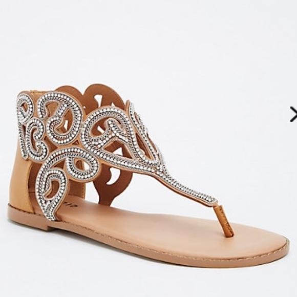 6328b694f6d659 Swirling Gemstone T-Strap Sandals (Wide Width)